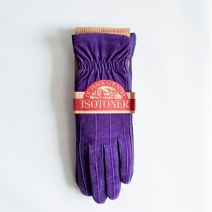 isotoner Accessories - Suede Violet Isotoner Outback Country Gloves New